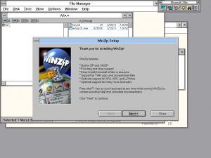 Winzip Setup on Windows 3.11